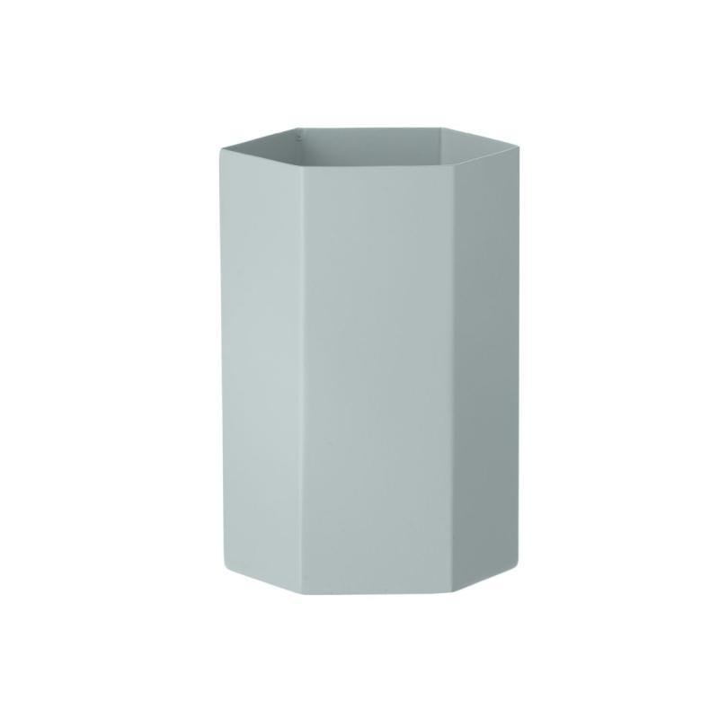 Hexagon Vase, Light Blue