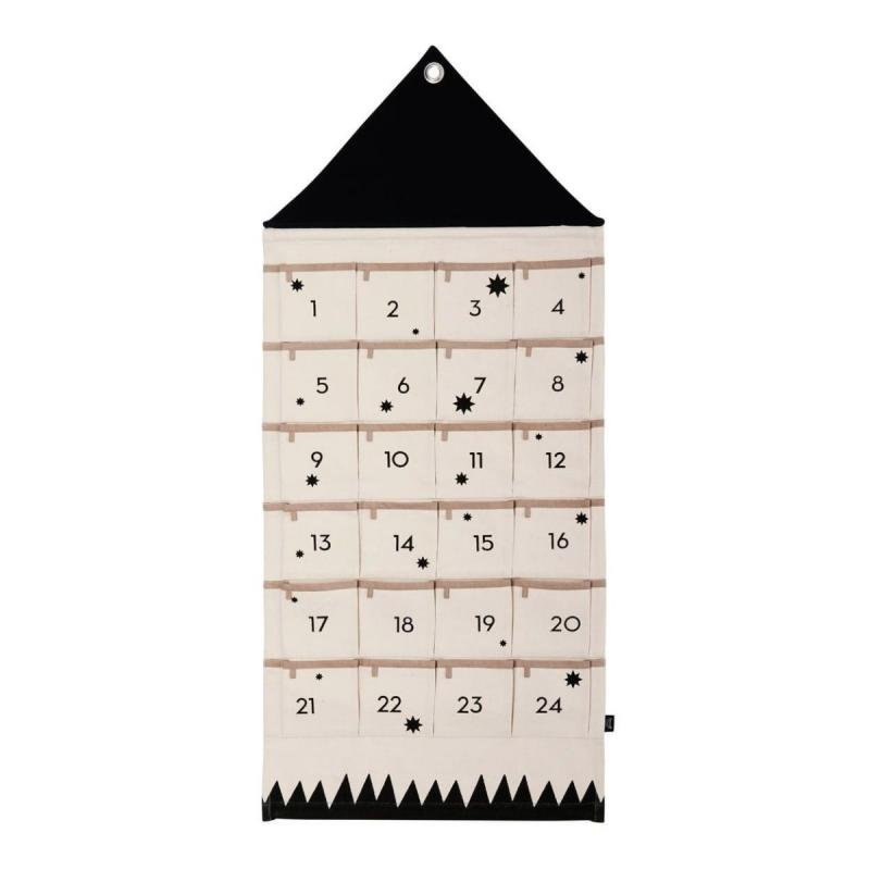 House Christmas Calendar, Black/White