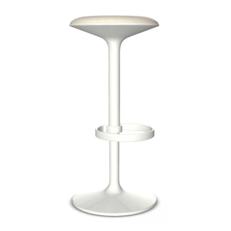 Hula Barstool, White Upholstery / White Base