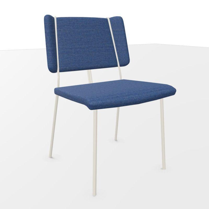 Frankie XL Chair, Blue Seat / White Frame