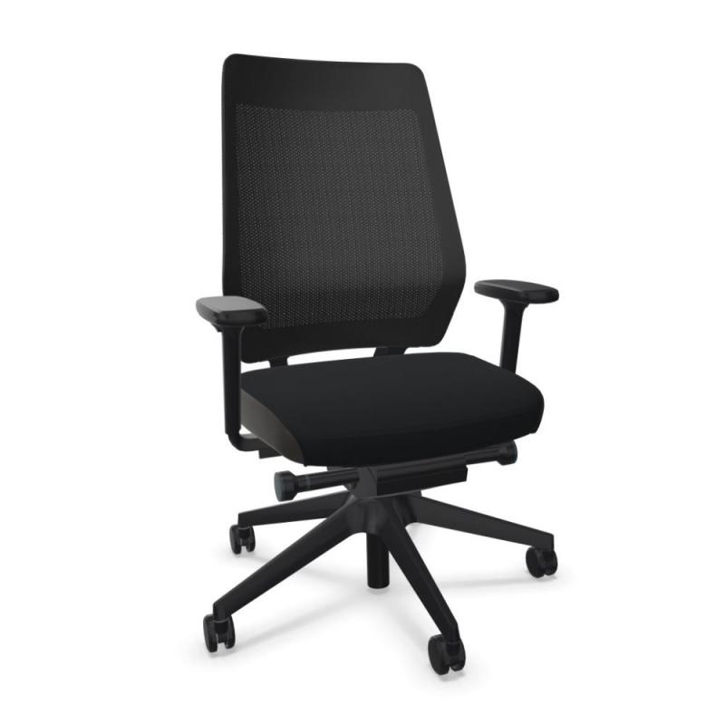 JOYCEis3 JC211 Office Chair, Mesh Backrest / Black Seat / Black Base