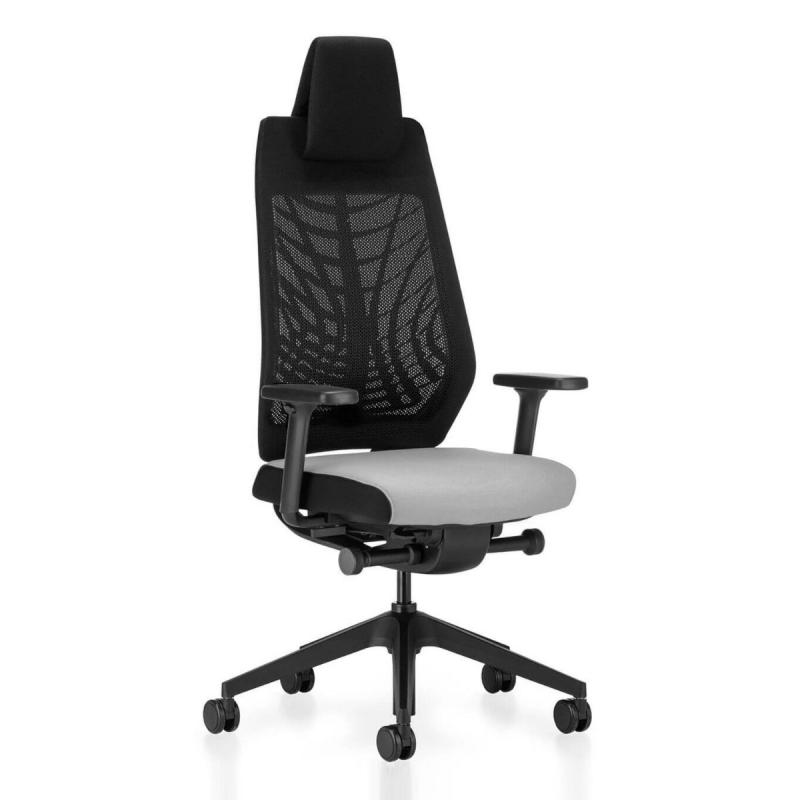 JOYCEis3 JC218 Office Chair, Mesh Backrest / Black Seat / Black Base