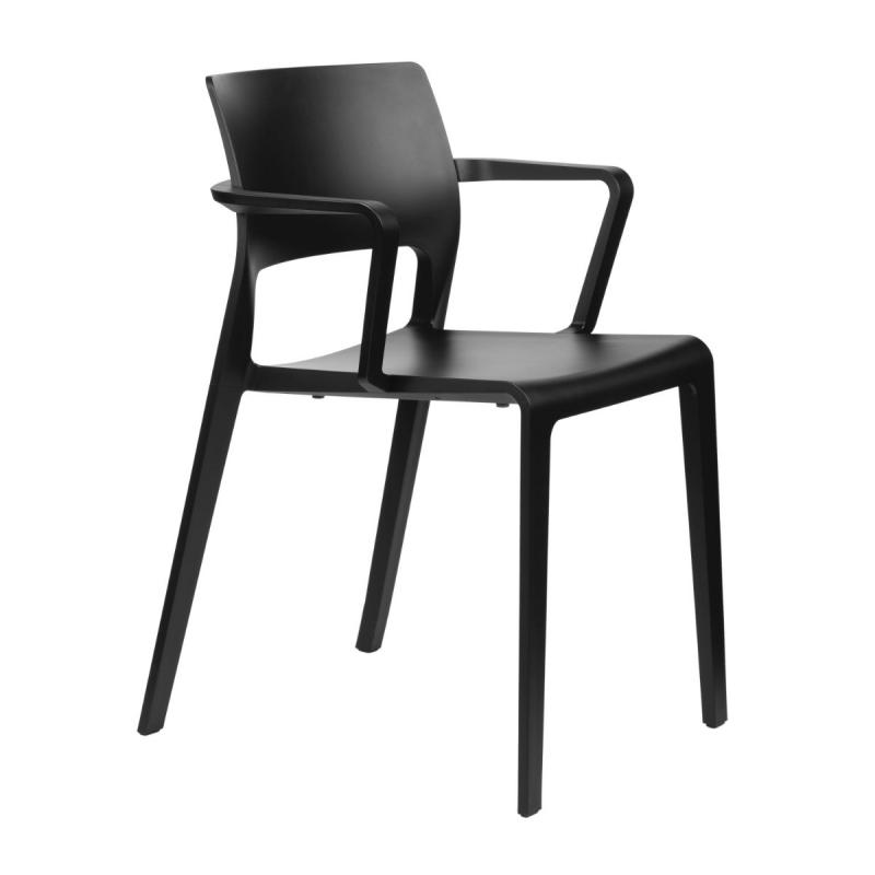 Juno Armchair With Open Back, Black