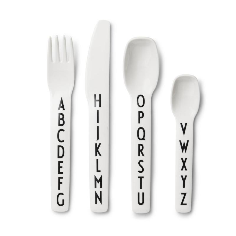 Kids Cutlery Set (Melamine), White
