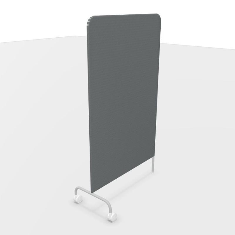 Kima Mobile Screen Panel, H136.3cm, Dark Grey Fabric