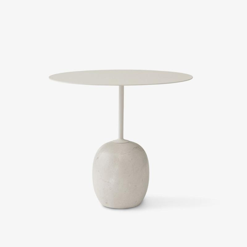Lato Table LN9, Ivory White & Crema Diva Marble