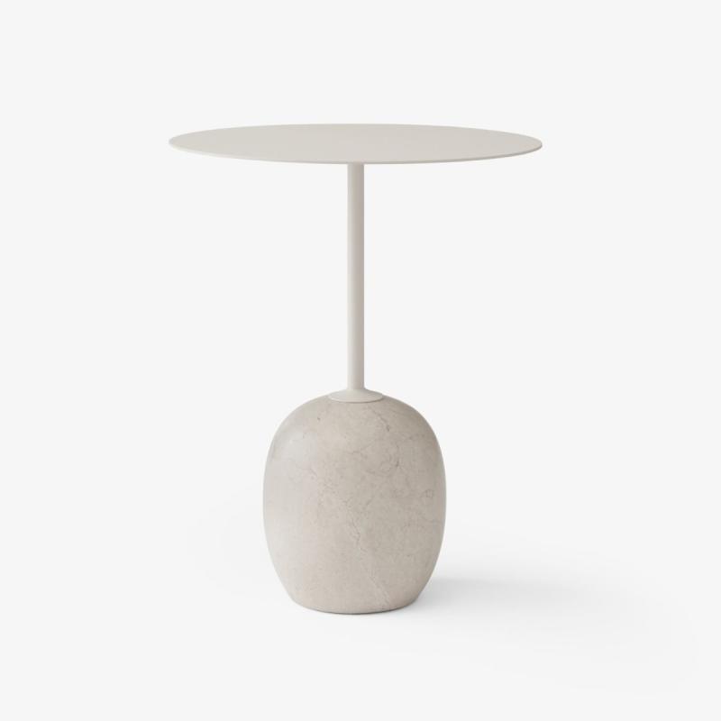 Lato Table LN8, Ivory White & Crema Diva Marble