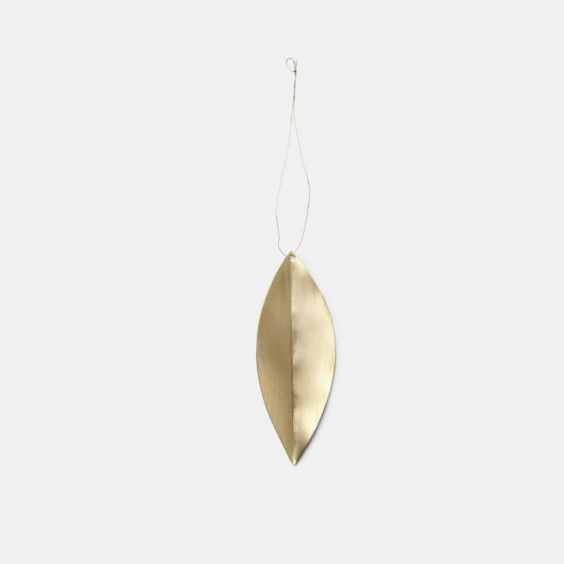 Leaf Brass Ornaments, Set of 4
