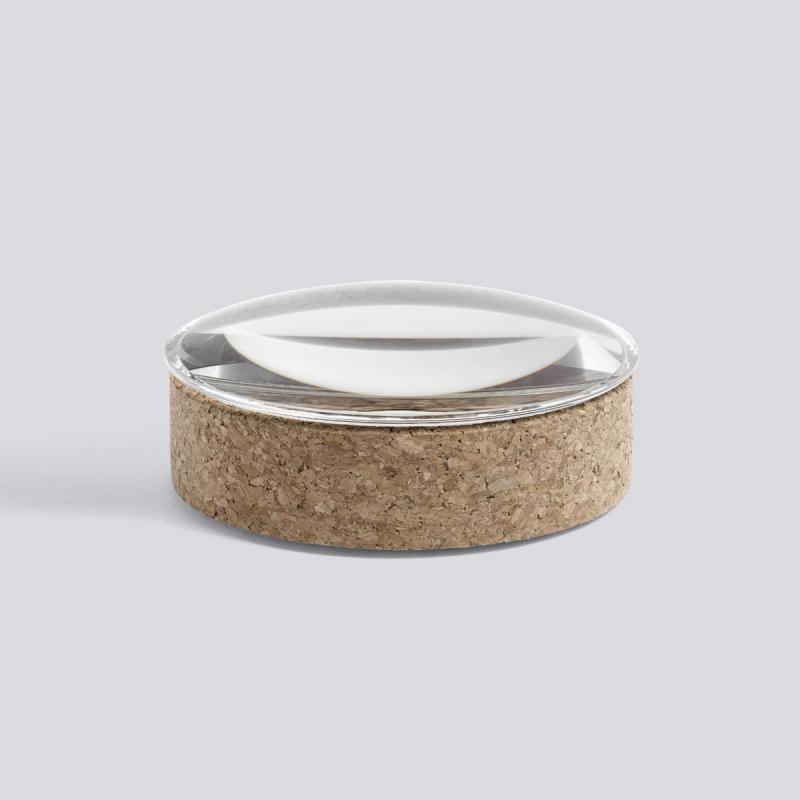 Lens Box, S, Glass / Cork