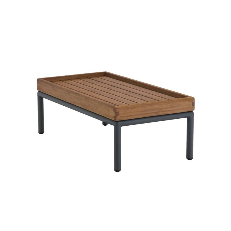 Level Lounge Side Table, 41x81cm, Bamboo Top / Dark Grey Frame