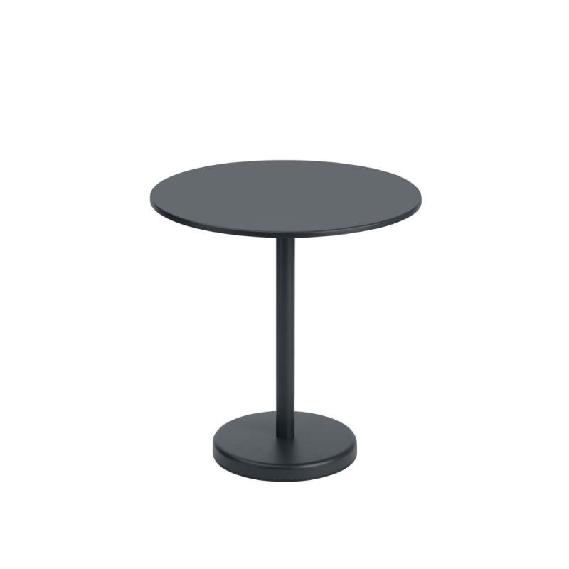 Linear Steel Cafe Table, Round