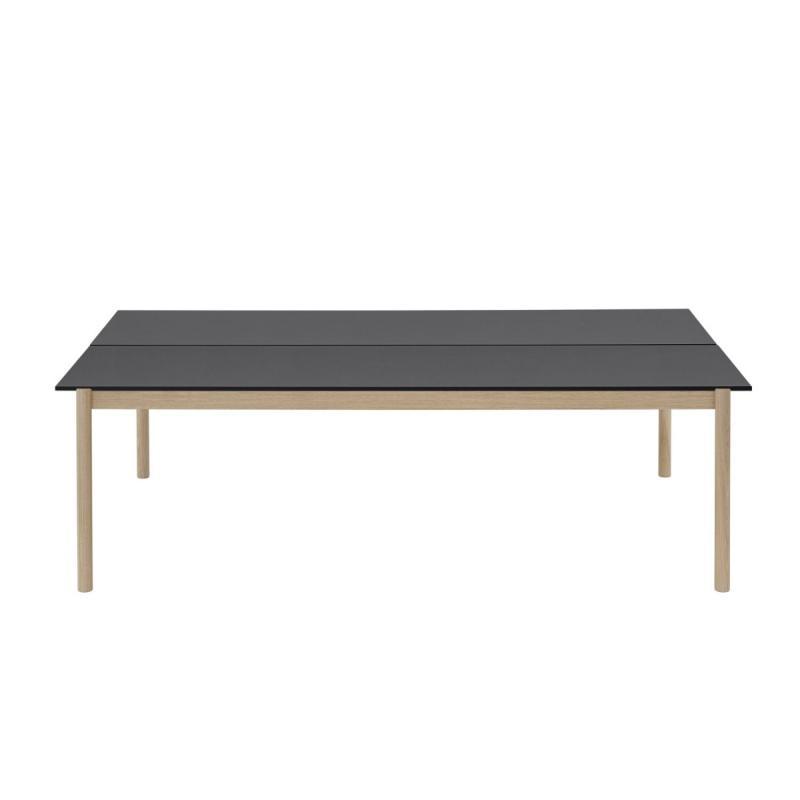 Linear System Table, 240x142cm, Black / Oak