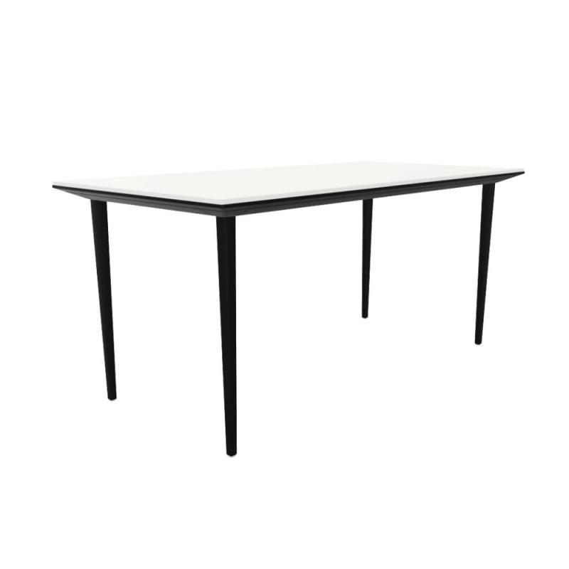 Longo Desk, 160x80cm, White MFC Table Top / Black Frame