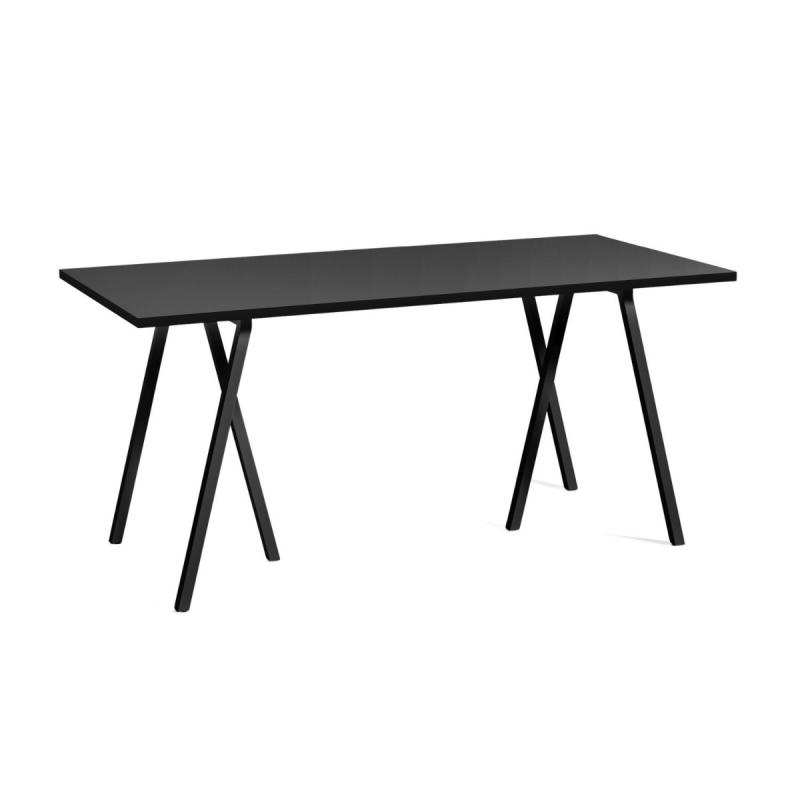 Loop Stand Table, Black Linoleum Top / Black Frame