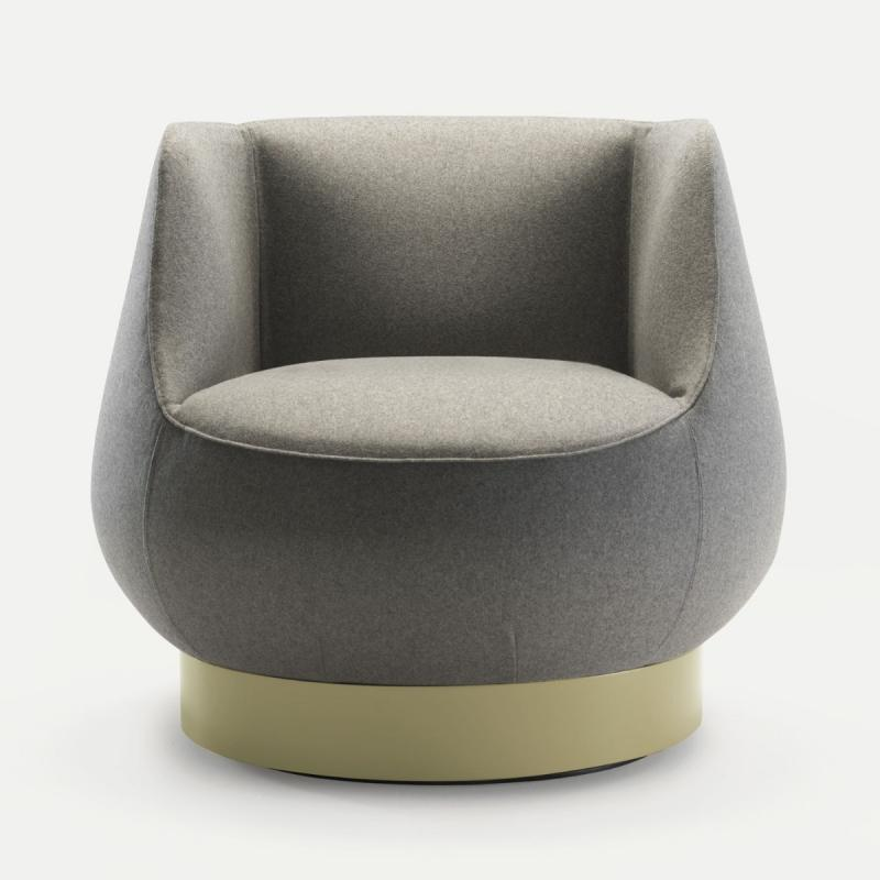 Magnum Lounge Chair With Plinth, Light Grey