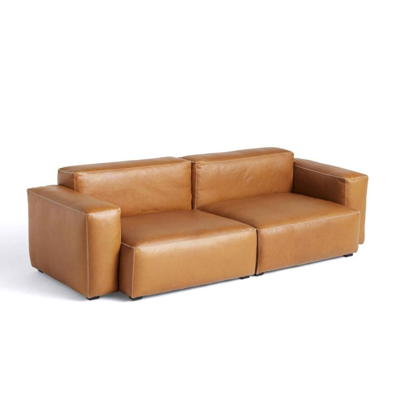 Mags Soft Sofa, 2,5-Seater Combination 1, Low Armrest, Cognac Leather