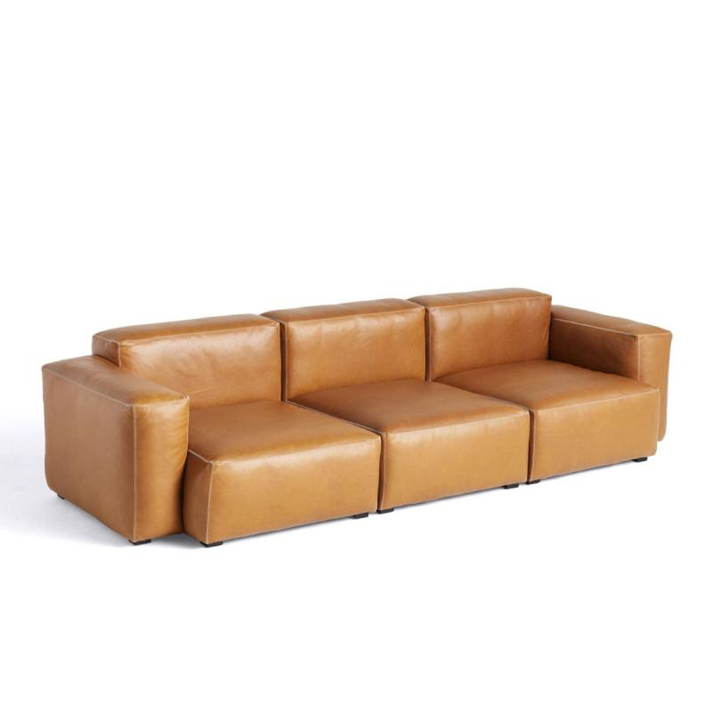 Mags Soft Sofa, 3-Seater Combination 1, Low Armrest, Cognac Leather