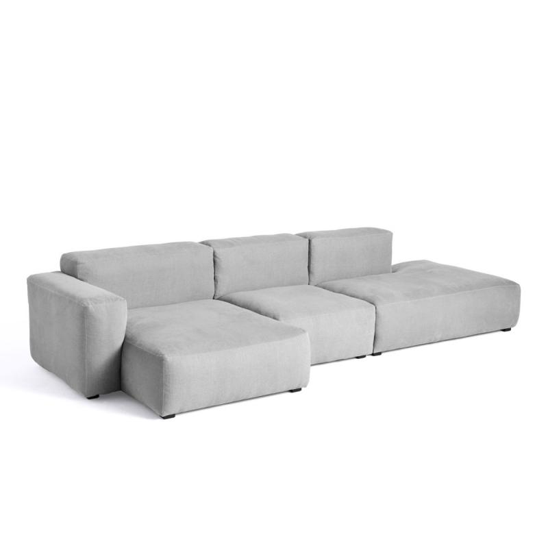 Mags Soft Sofa, 3-Seater, Combination 4, Low Armrest, Left End, Light Grey