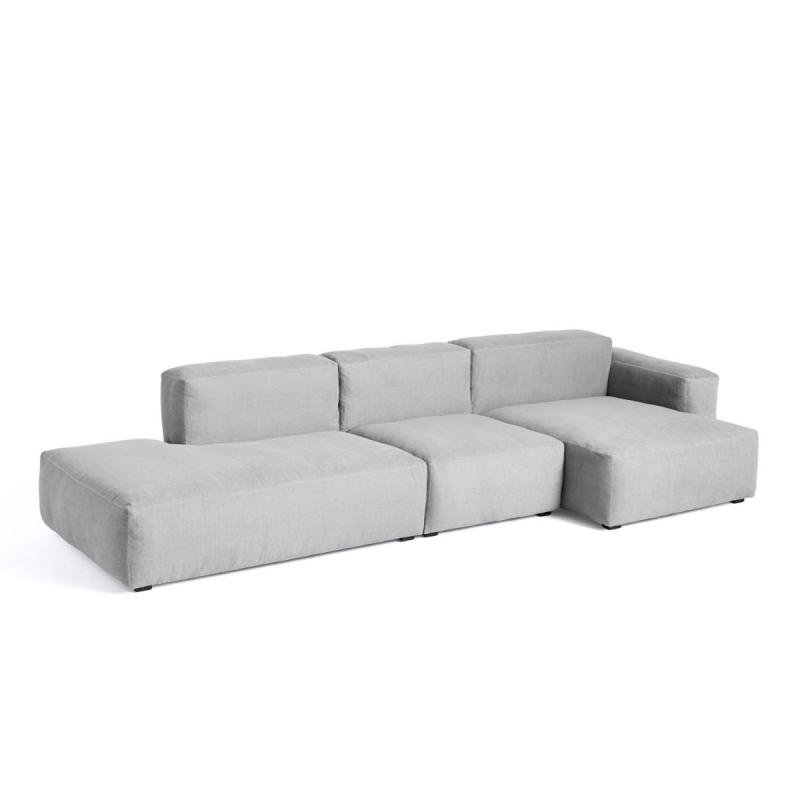 Mags Soft Sofa, 3-Seater, Combination 4, Low Armrest, Right End, Light Grey