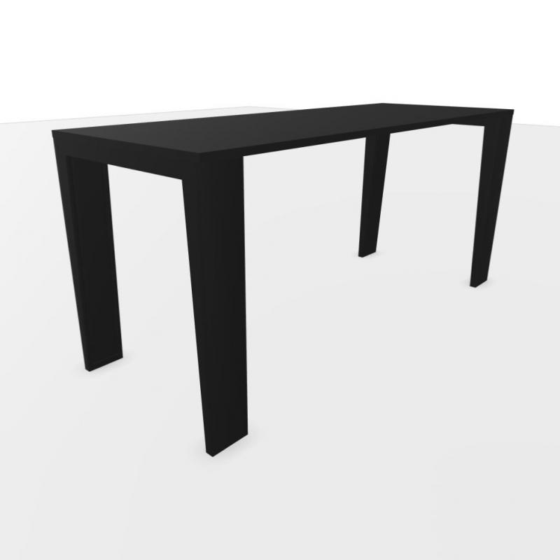 Mahia Desk, 160x60cm, Black Laminate Top / Black Frame