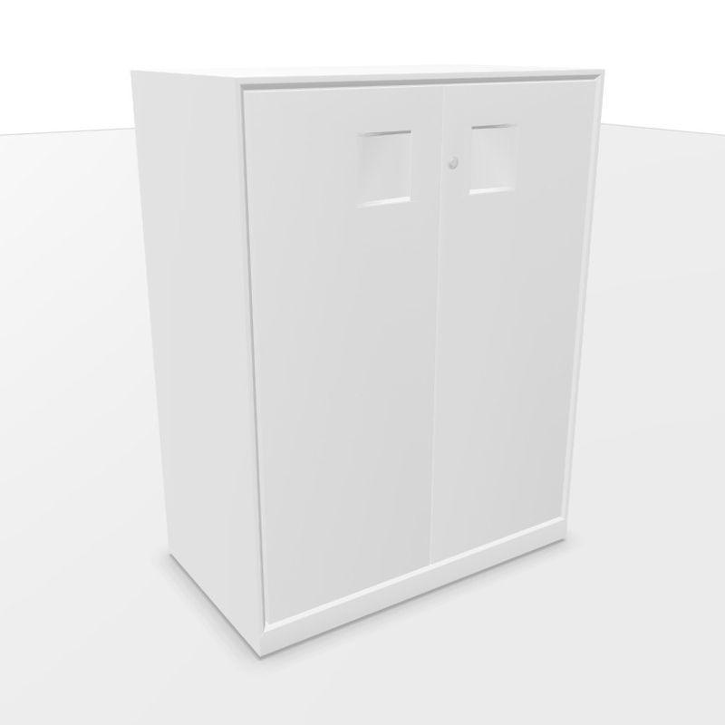 Mahia Hinged Steel Doors Cabinet, 80x45x105.5cm, White