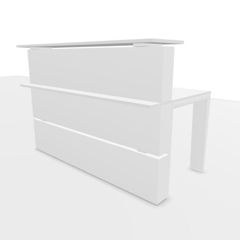 Mahia Reception Counter, 160x83cm, White Laminate Top / White Frame