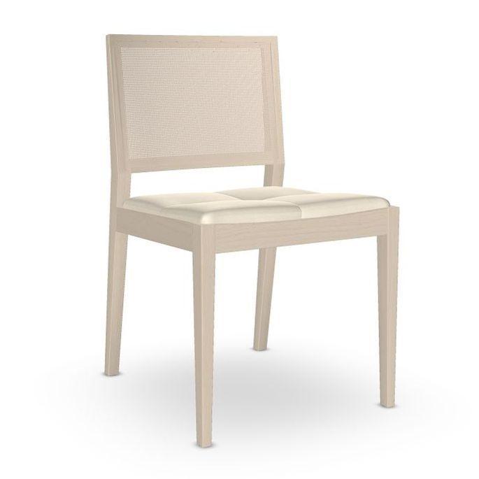 Manila Chair, White Upholstery / Beech Frame