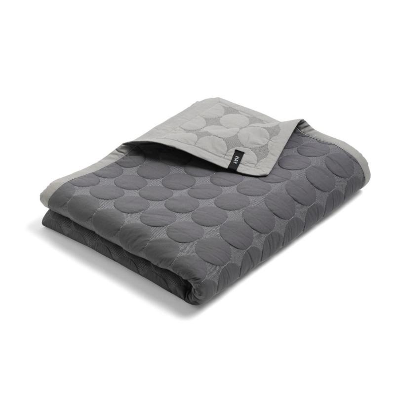 Mega Dot Bed Cover, XL, Dark Grey