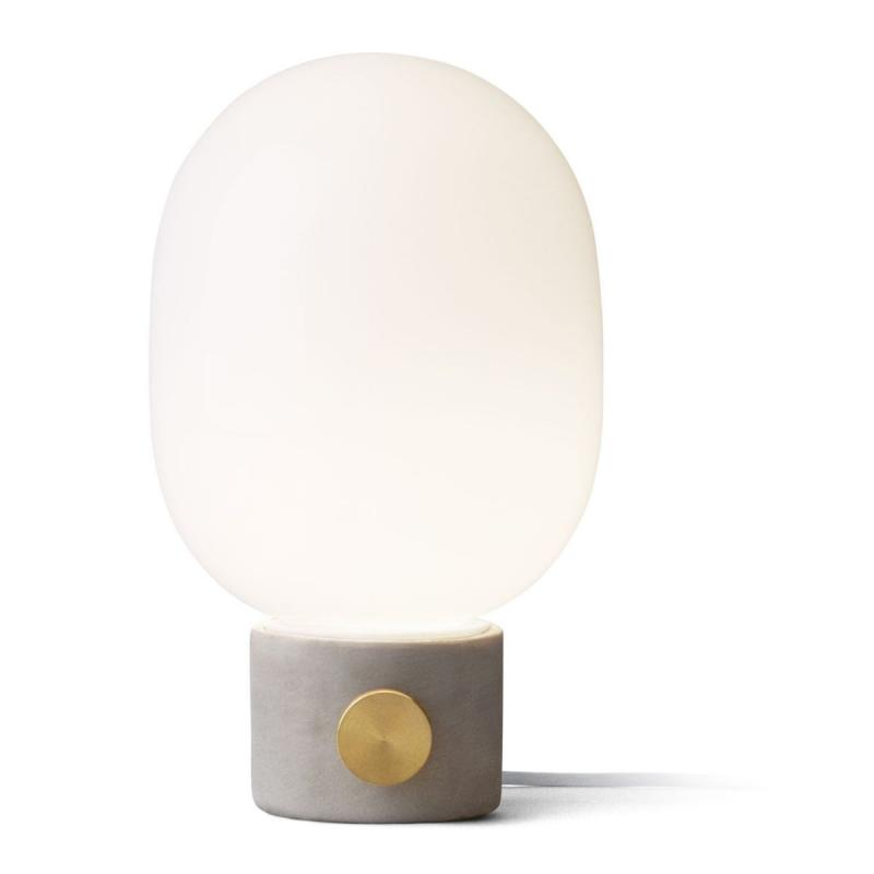 JWDA Table Lamp, Concrete, Light Grey/Brass