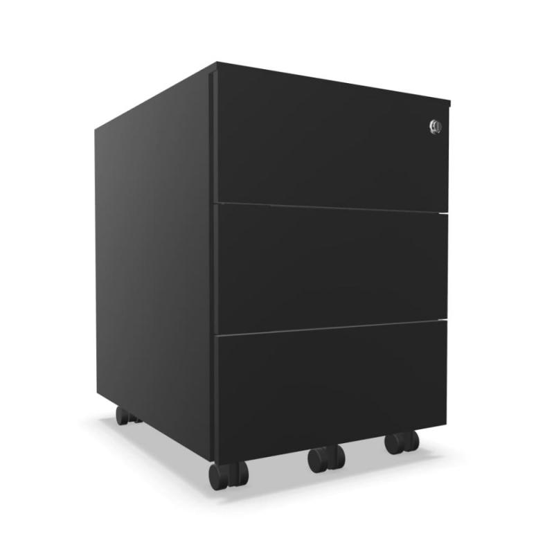Mobile Pedestal With 3 Drawers, With Lock, Steel