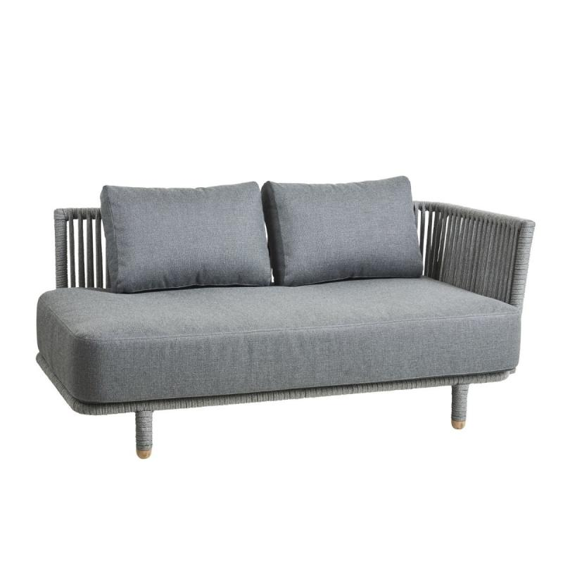 Moments 2-Seater Sofa Left Module, Grey