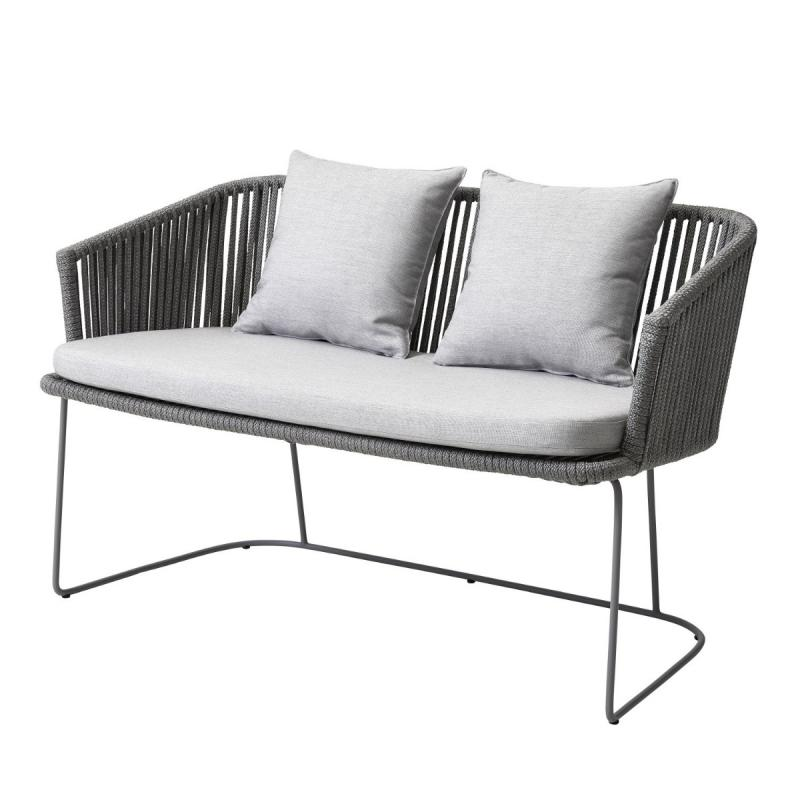 Moments Bench With Light Grey Cushion Set, Grey