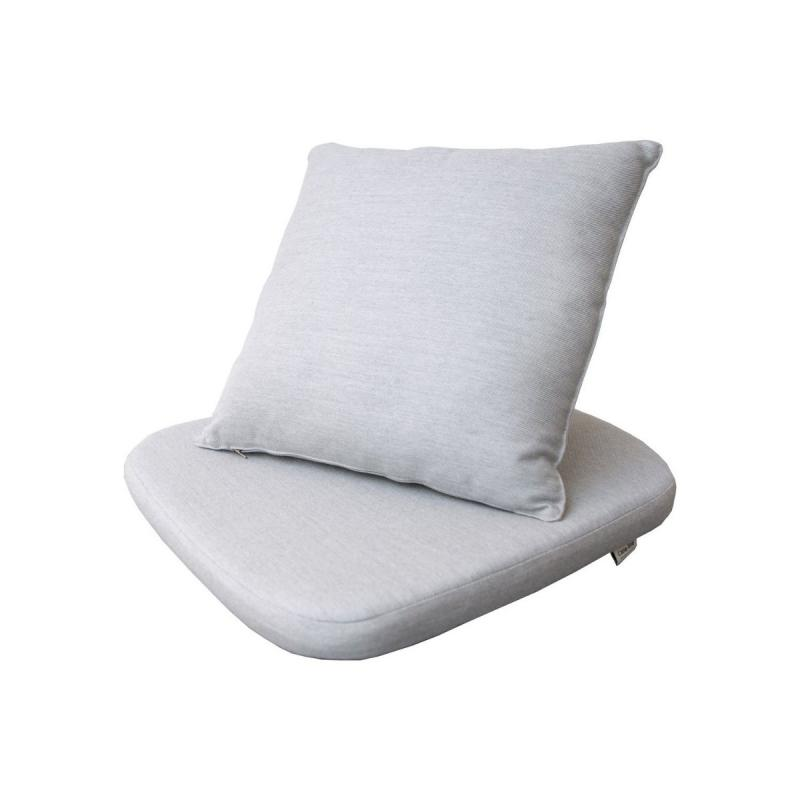 Moments Chair Cushion Set, Light Grey