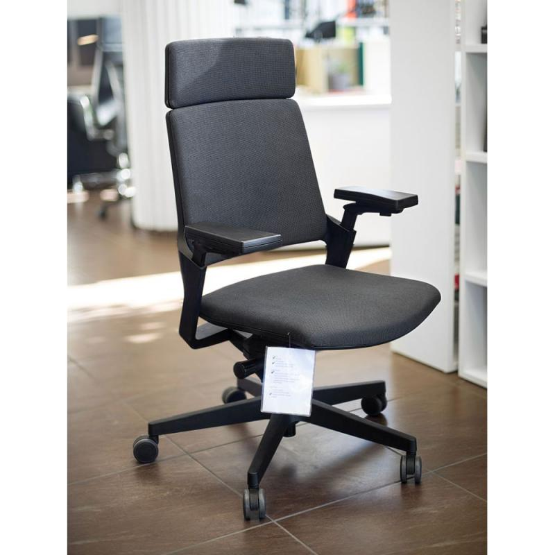 MOVYis3 23M2 Office Chair, Dark Grey Backrest and Seat / Black Base