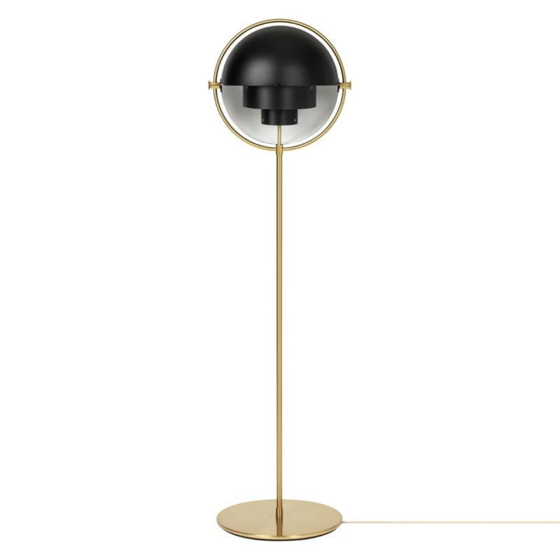 Multi-Lite Floor Lamp, Chrome Base, Chrome Shade