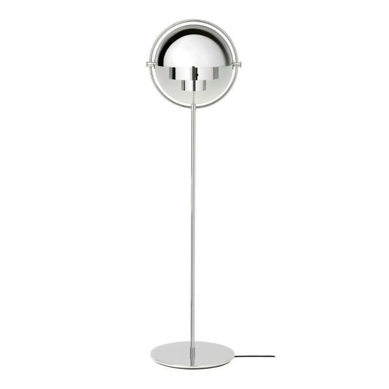 Multi-Lite Floor Lamp, Brass Base, Black Shade