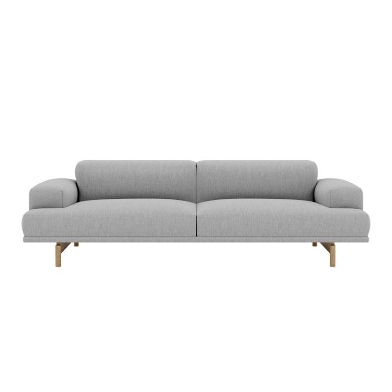 Compose Sofa, 3-seater, Light Grey