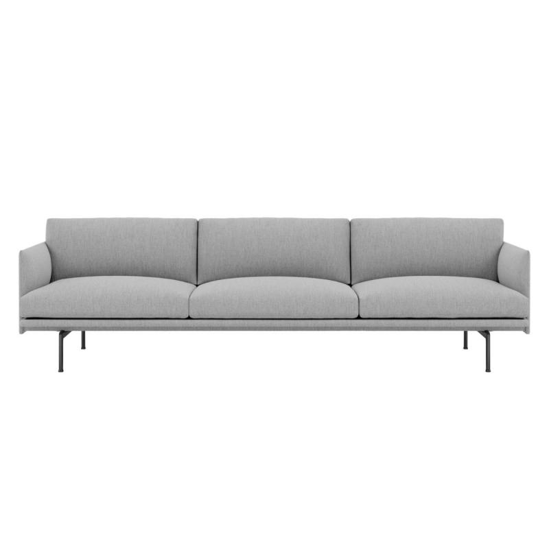 Outline Sofa, 3 1/2-seater, Light Grey
