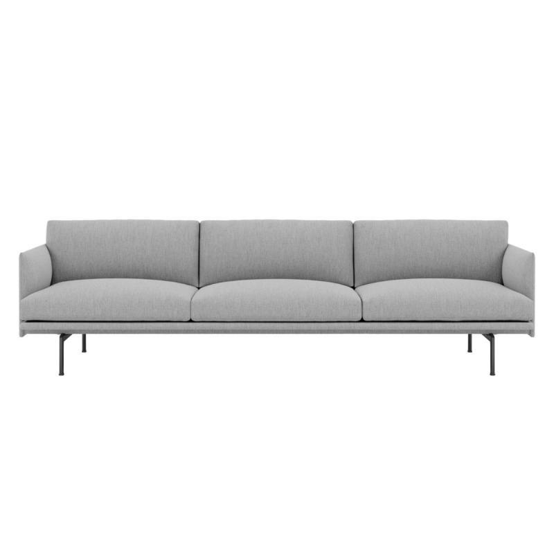 Outline Sofa, 3 1/2-seater, Black Base