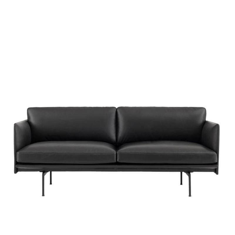 Outline Sofa, 2-Seater, Black Base