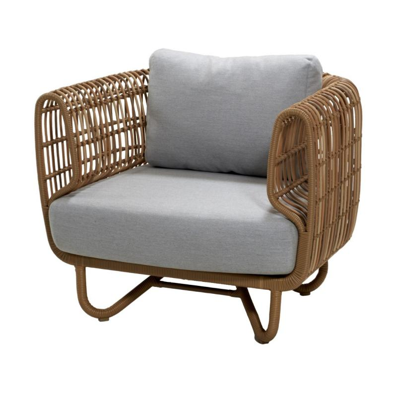 Nest Lounge Chair With Cushions, Natural