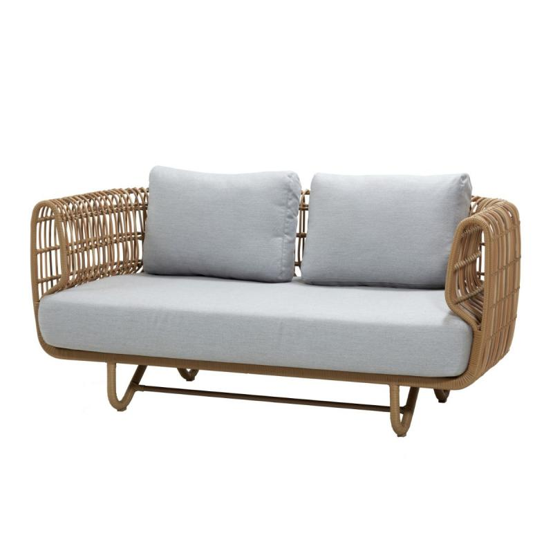 Nest 2-Seater Sofa With Cushions, Natural