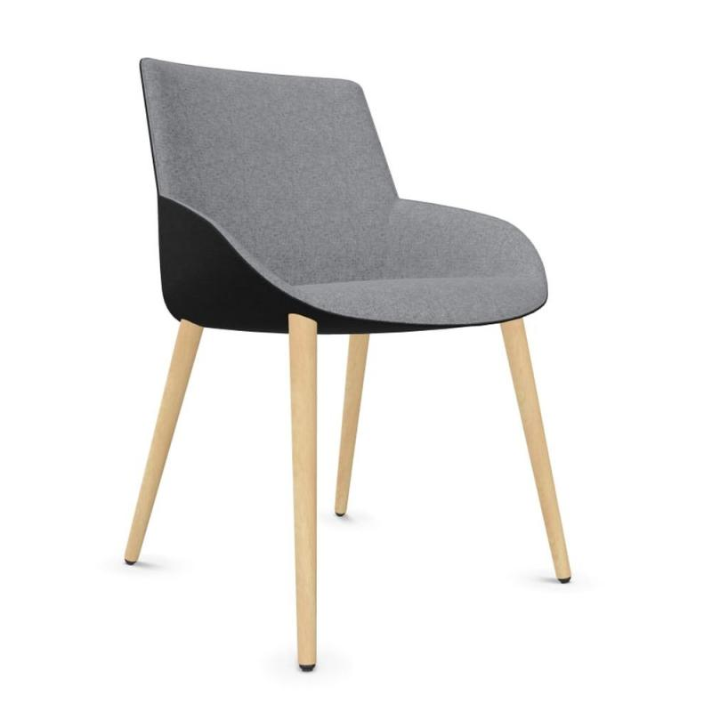 Noom 30 Chair, Wood Base