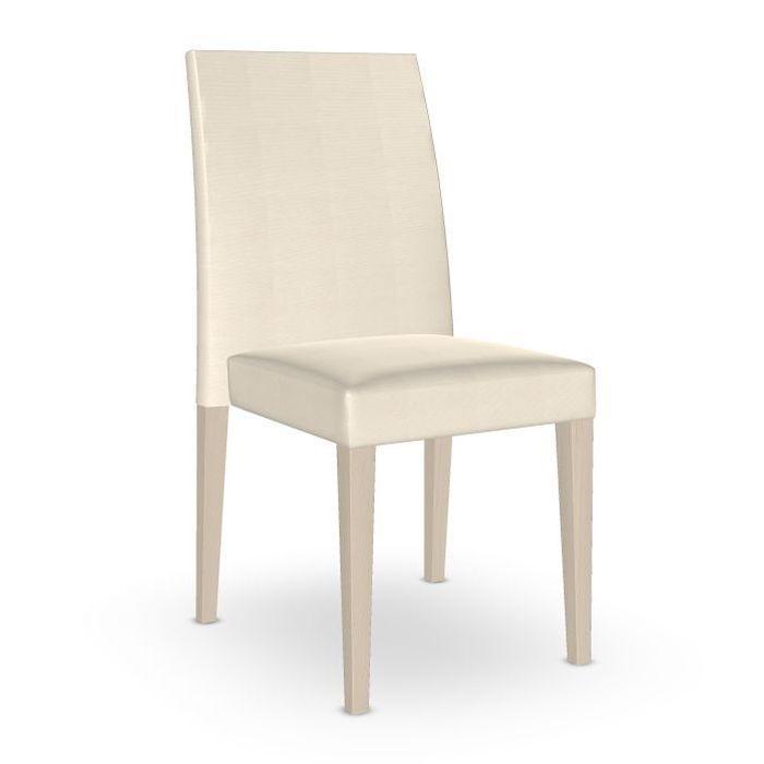 Noosa Chair, White Upholstery / Beech Frame