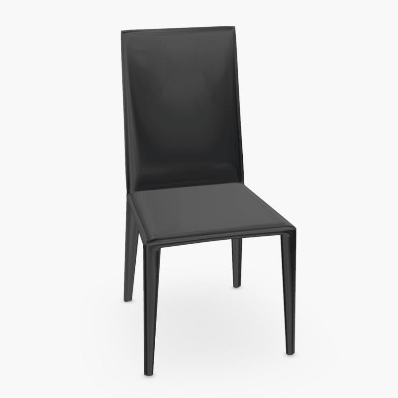 Norma Chair, Black Leather