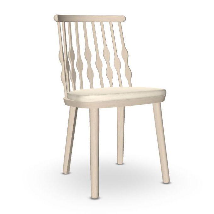Nub Chair, White Upholstery / Beech Frame