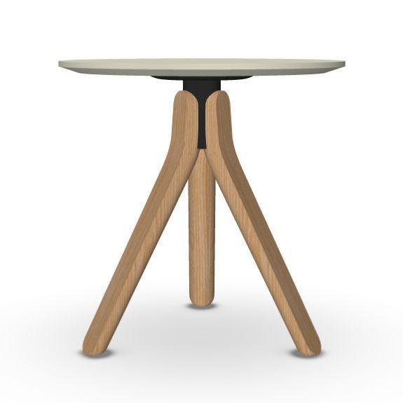 Nuez Occasional Table, Ø45cm, Sand Top / Oak Base