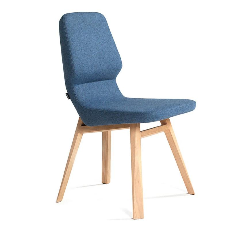 Oblique Chair, Light Grey Seat / Light Oak Frame