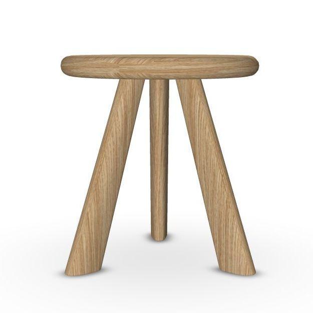 Oliva Side Table, Ø30cm, Oak