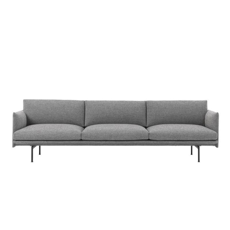 Outline Sofa, 3 1/2-seater, Light Grey